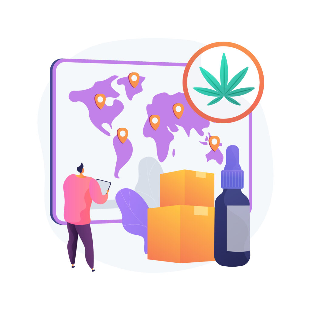 cbd, hemp & cannabis illustration